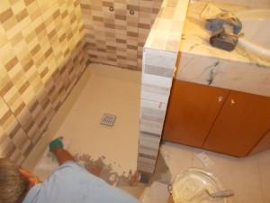 Foto de impermeabilización de plato de ducha