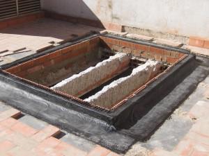 Impermeabilización de claraboya