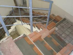 Foto peldaños  de escalera